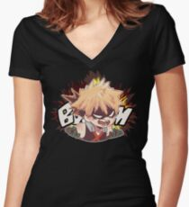 BOOM Women's Fitted V-Neck T-Shirt