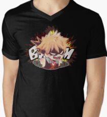 BOOM T-Shirt mit V-Ausschnitt