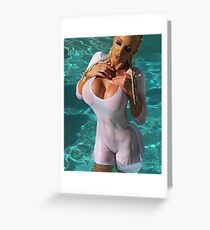Hot Pool Greeting Card
