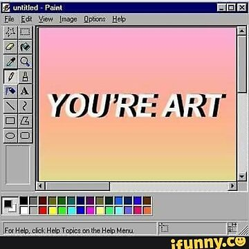 You're art sticker by Showlet95