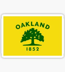Oakland flag Sticker