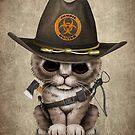 Netter Kätzchen-Zombie-Jäger von jeff bartels