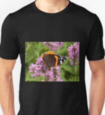 Red Admiral on Wildflowers Unisex T-Shirt