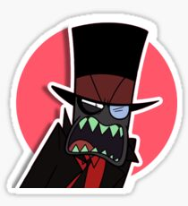 Villainous Black Hat sticker Sticker