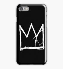Basquiat King Crown Black iPhone Case/Skin