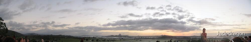 Sunrise over hilltop by Jadedragon