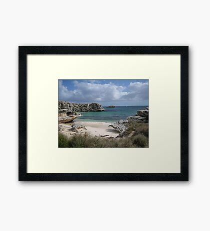 Pinkys Bay Rottnest Island 7 Framed Print