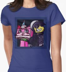 Unikitty and Bad cop Womens Fitted T-Shirt