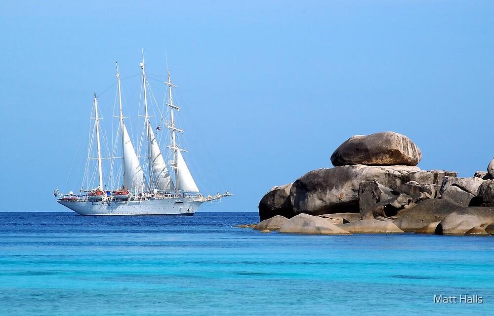 Sailing by Sail Rock by Matt Halls