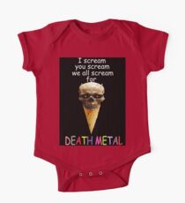 Metal of Death v. Cream of Ice One Piece - Short Sleeve