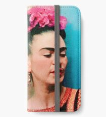 Frida Kahlo with Flower Quote iPhone Wallet