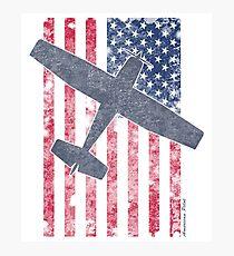 American Pilots Series | Skyhawk & Old Glory Photographic Print