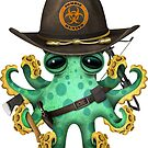 Grüner Baby-Kraken-Zombie-Jäger von jeff bartels
