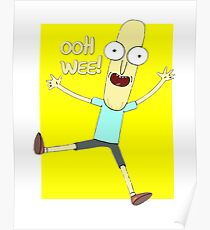 Mr. Poopybutthole Ooh Wee! Rick and Morty Design Poster