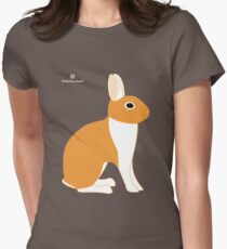 Orange White Eared Rabbit T-Shirt