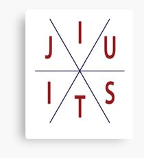 Jiu Jitsu Circle MMA BJJ Apparel Canvas Print