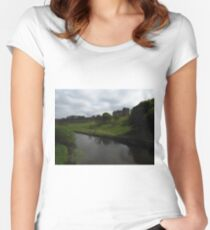 Alnwick Castle and The River Aln Women's Fitted Scoop T-Shirt