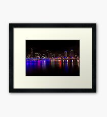 Brisvegas City Lights Framed Print