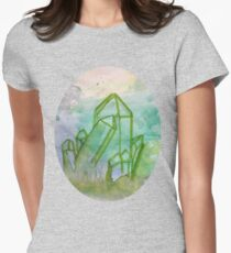 Water Crystal of Serenity Womens Fitted T-Shirt