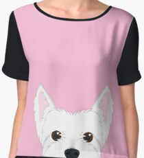 West Highland Terrier Dog Portrait Chiffon Top