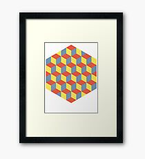 Cubes in an Hexagon Framed Print