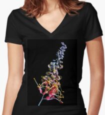 Rainbow Tangle Women's Fitted V-Neck T-Shirt
