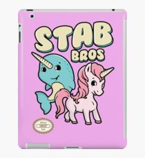 Stab Bros! Narwhal and Unicorn Team Up! iPad Case/Skin