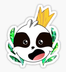 An Excited Regal Sloth Sticker