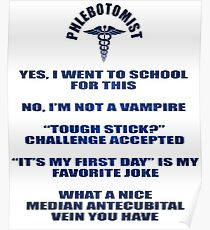 Phlebotomist Is Not A Vampire Poster