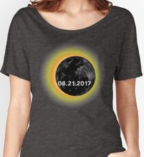 Circle Total Solar Eclipse Celestial Fanatic Women's Relaxed Fit T-Shirt