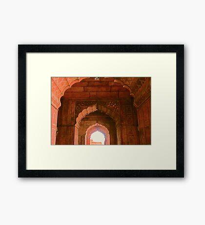 Through the Arches Framed Print