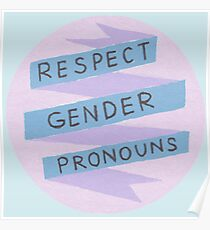 Respect Gender Pronouns Poster