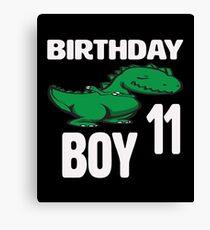 Dabbing Dinosaur 11th Birthday Boy Canvas Print
