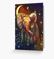 Elephant at Night Greeting Card