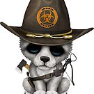 Netter Wolf Cub Zombie Hunter von jeff bartels