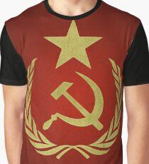 Hammer & Sickle Star Flag (Communist) Graphic T-Shirt