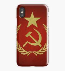 Hammer & Sickle Star Flag (Communist) iPhone Case/Skin