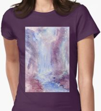 The Waterfall Womens Fitted T-Shirt