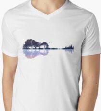Nature Guitar Mens V-Neck T-Shirt