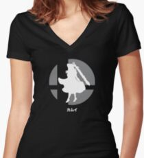 Smash Bros. Corrin / Kamui Women's Fitted V-Neck T-Shirt