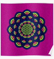 Flower Of Life Mandala 2 Poster