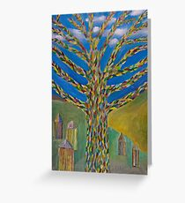 knitted tree Greeting Card