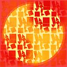 Geometric Multi-Shapes: Fire Tones by KitsuneDesigns
