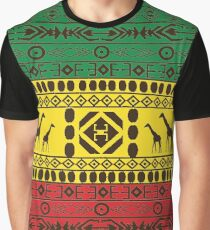 African Traditional Pattern Giraffs big rasta Graphic T-Shirt