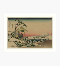 Teahouse at Koishikawa - Japanese pre 1915 Woodblock Print Art Print