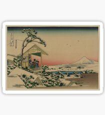 Teahouse at Koishikawa - Japanese pre 1915 Woodblock Print Sticker