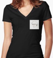 Just a Doodle Women's Fitted V-Neck T-Shirt