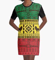 African Traditional Pattern Lions big rasta  Graphic T-Shirt Dress