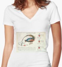 Seraphinianus codex Women's Fitted V-Neck T-Shirt