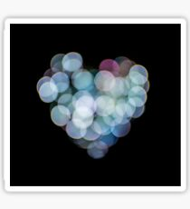 Valentines Abstract heart shaped lights  Sticker